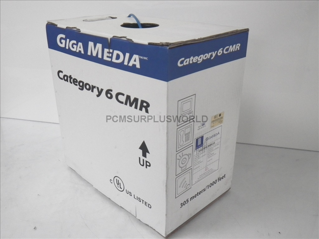 Ethernet Communication Cable Giga Media Wire Category 6 23AWG 305M ...