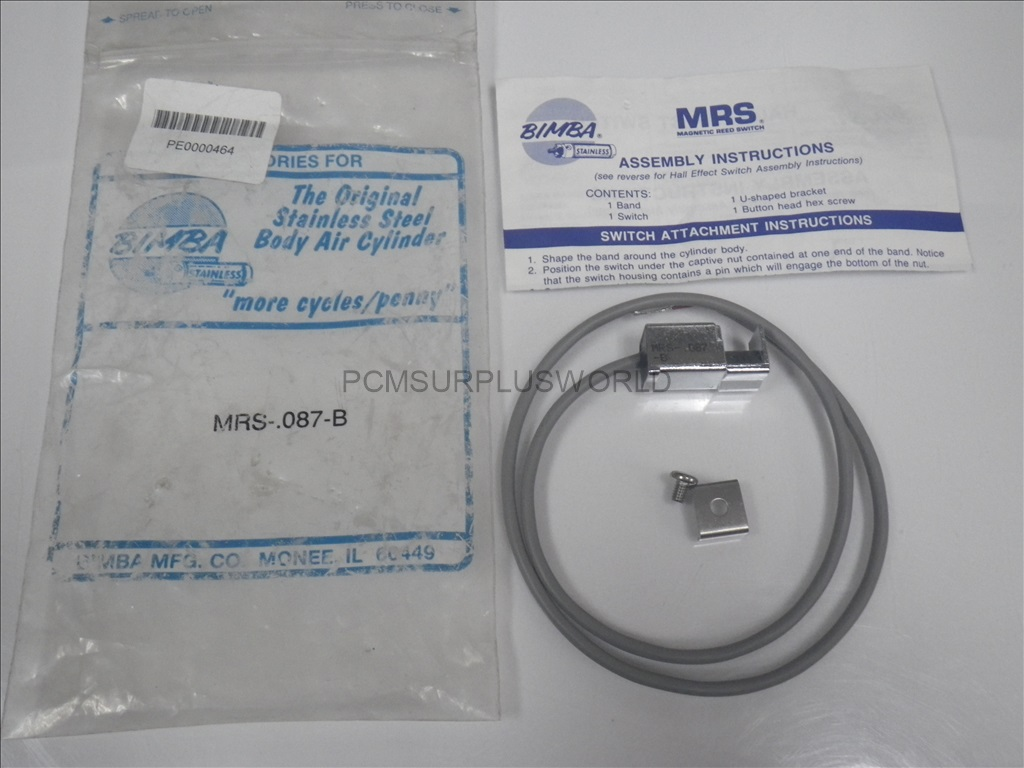 Mrs 087 B Mrs087b Bimba Magnetic Reed Switch New In Bag Ebay Switches And Hall Effect Sensors