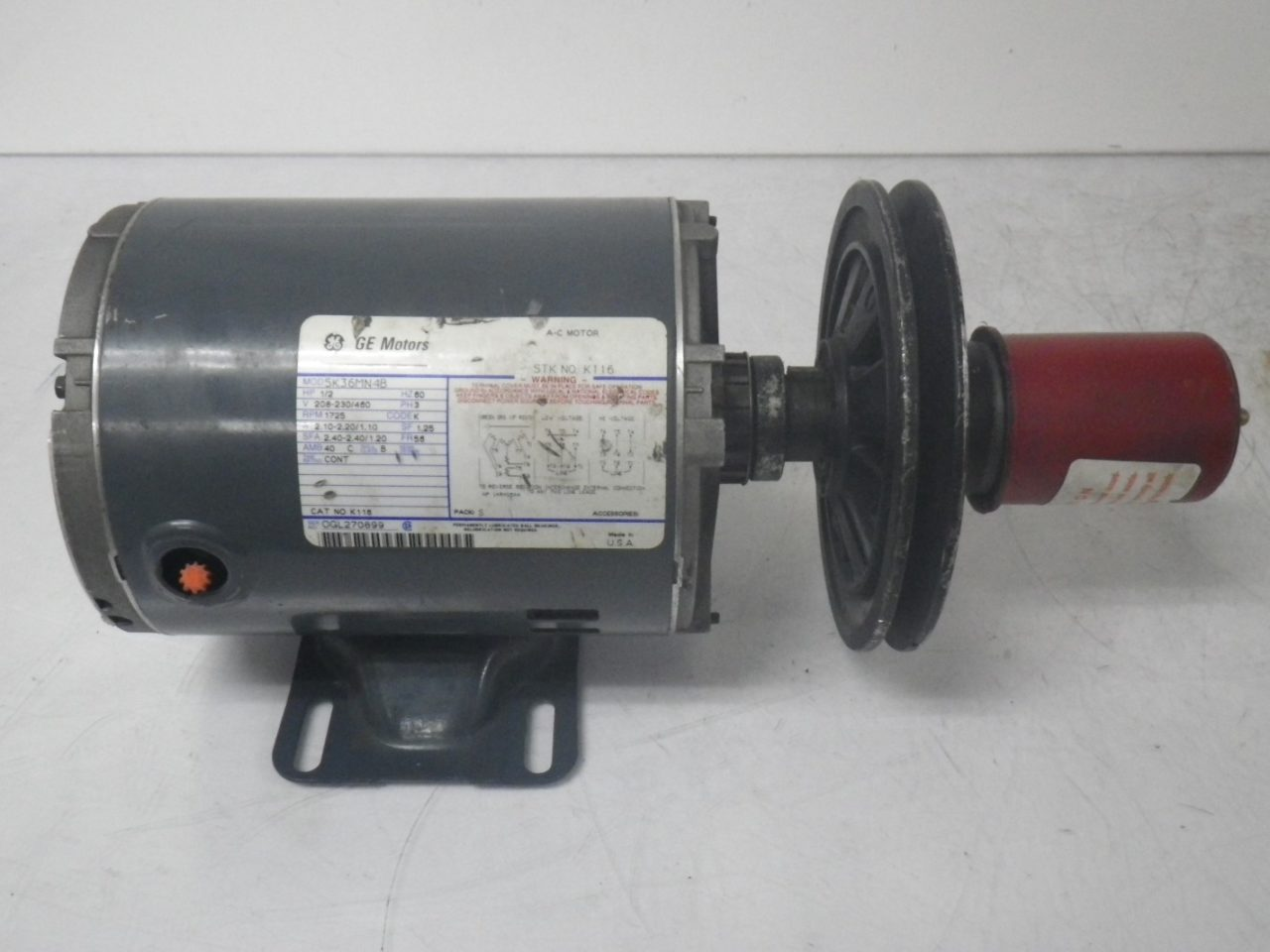 IMGP65595K36MN4B 160 58B GE Motor With LOVEJOY Pulley Type 160 58b 12hp 208-230460v 1725rpm (8)