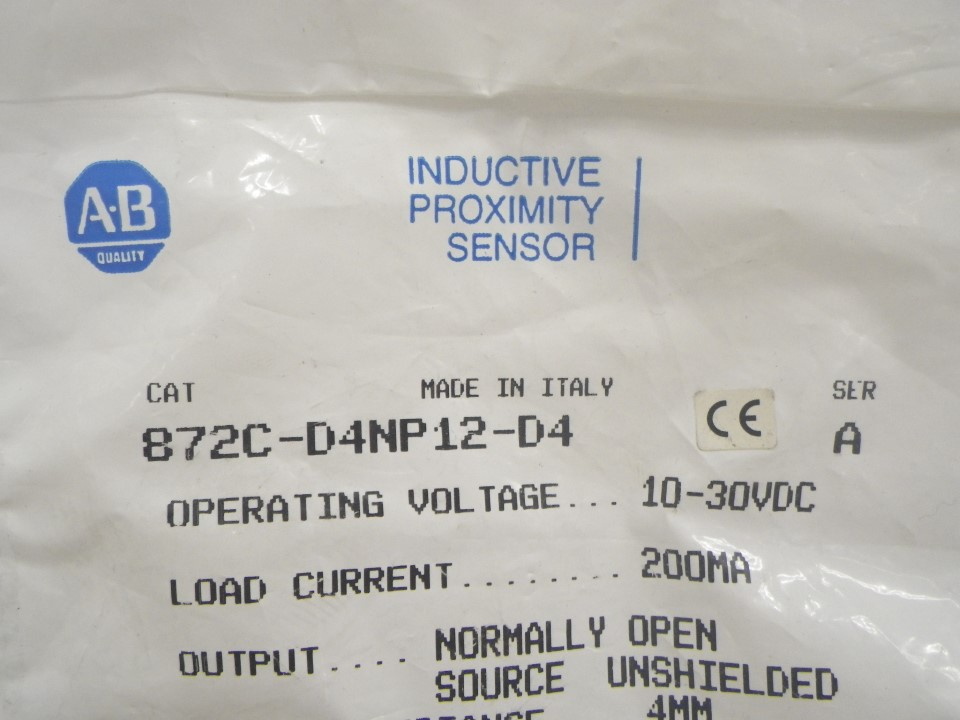 872C-D4NP12-D4 872CD4NP12D4 Allen Bradley Inductive priximity sensor (New in bag) (2)