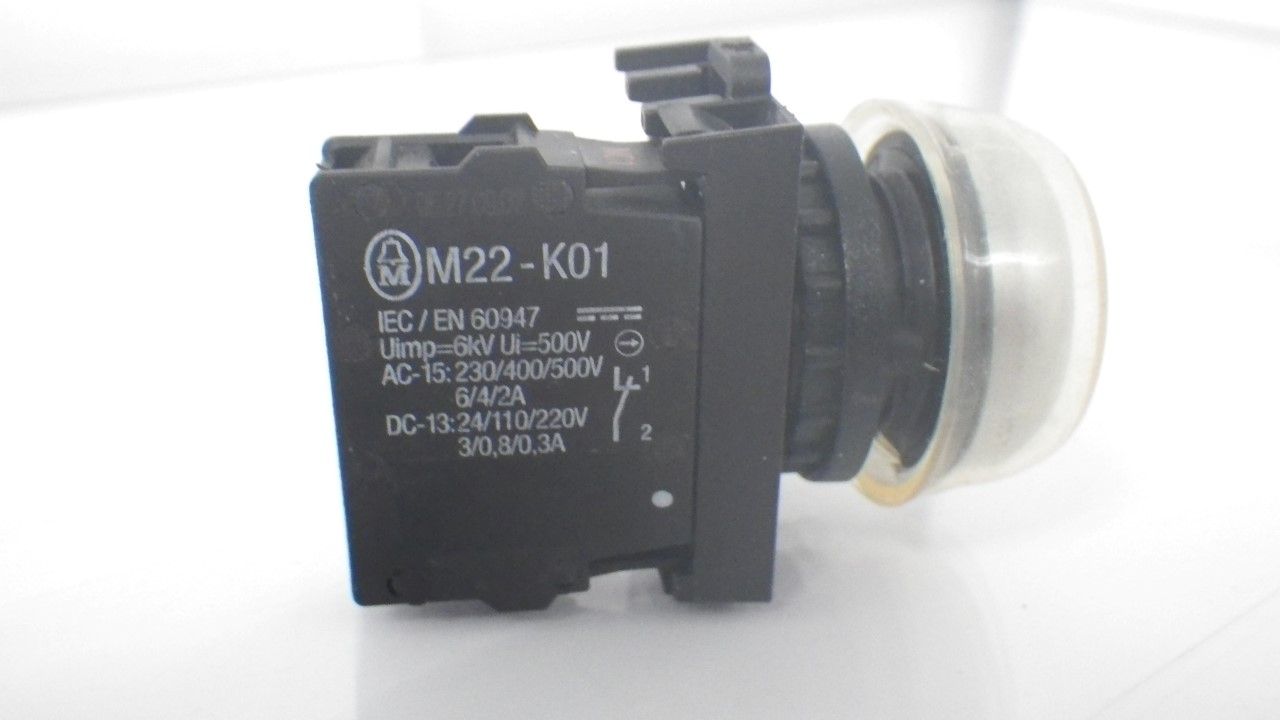 IMGP7283M22-K01Moeller Red Push Button Stop 10a 600vac 1a 250vdc (Used Tested) (11)