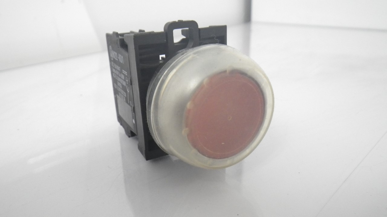 IMGP7283M22-K01Moeller Red Push Button Stop 10a 600vac 1a 250vdc (Used Tested) (2)
