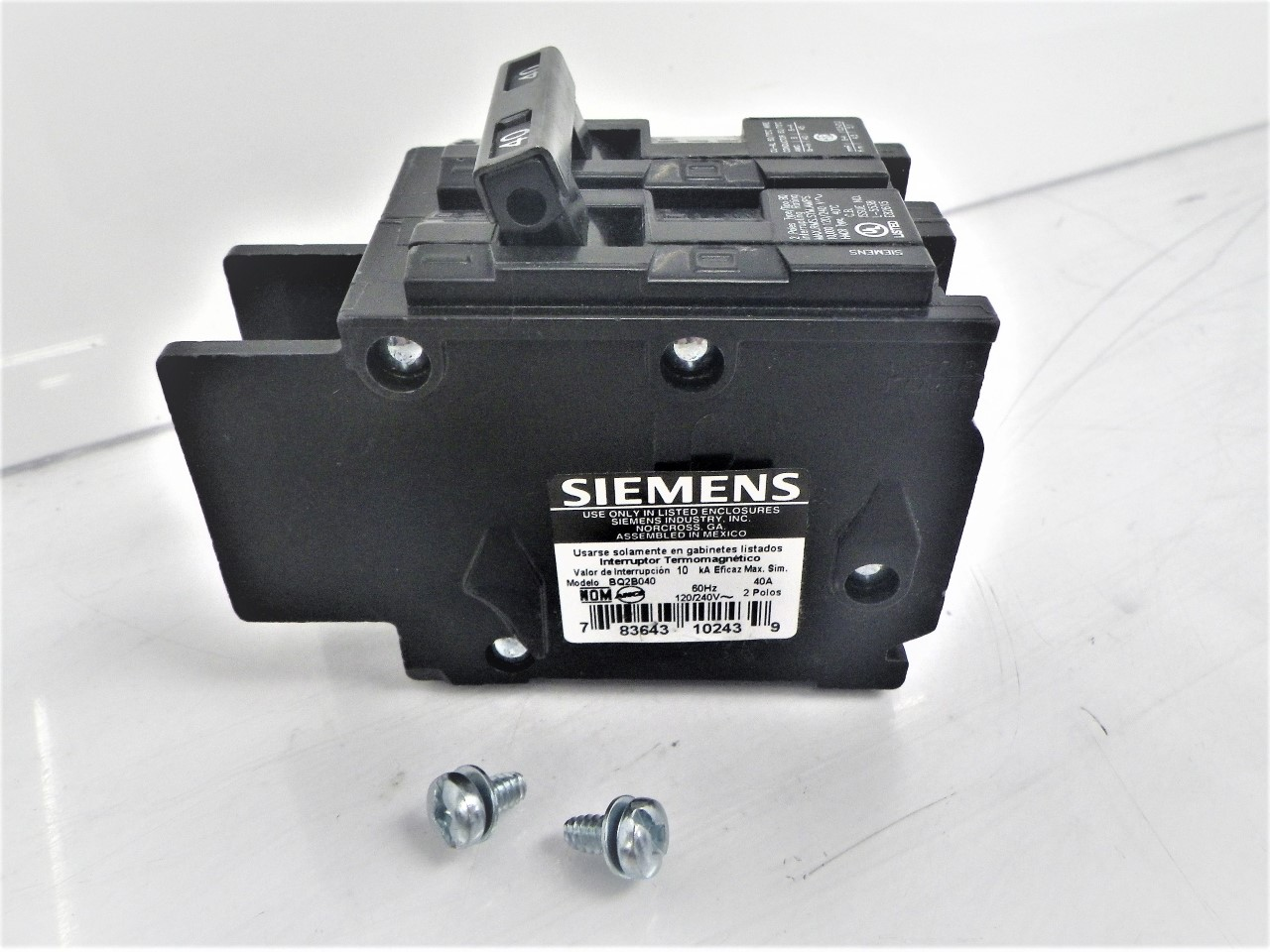 BQ2B040 Siemens Circuit Breaker 40A 120240V 2-Pole (NEW) (2)