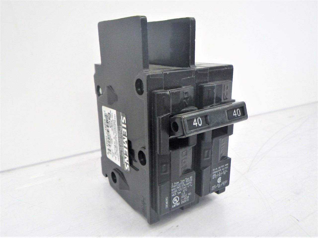 BQ2B040 Siemens Circuit Breaker 40A 120240V 2-Pole (NEW) (3)