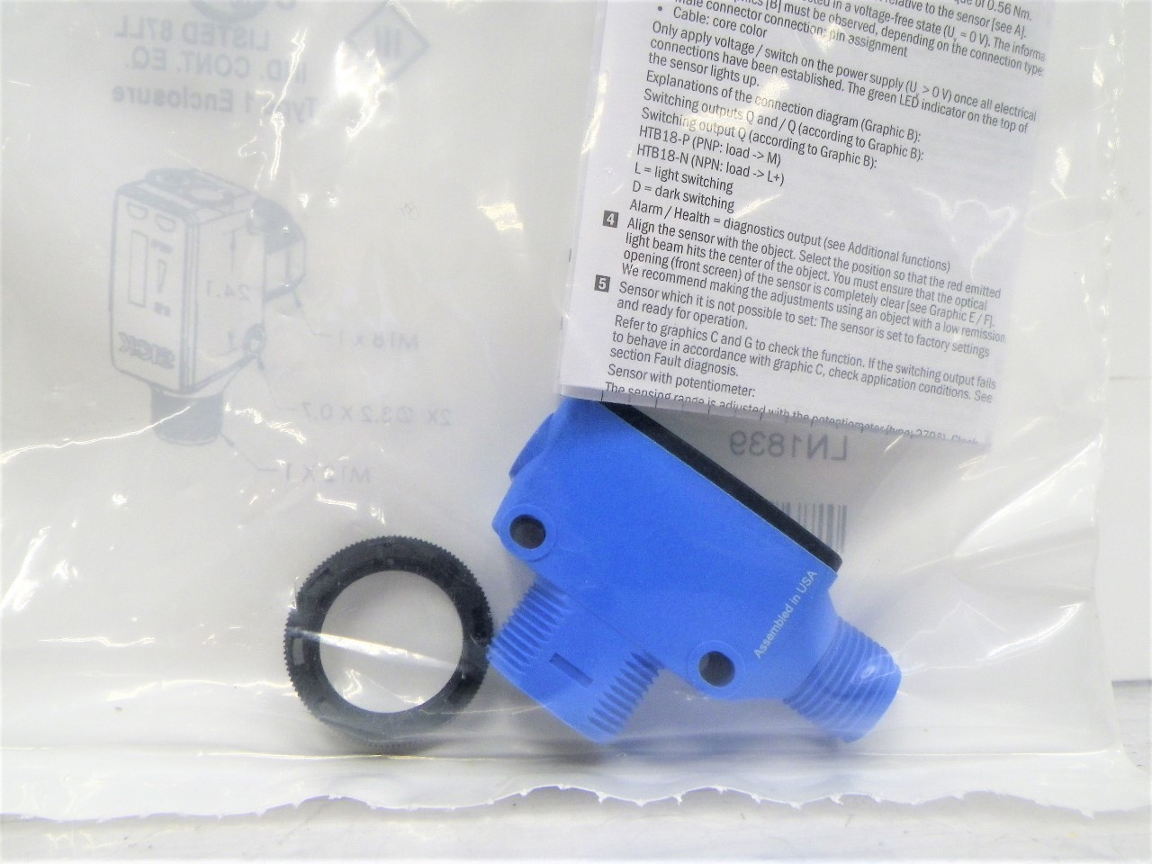 HTB18-P4A2BB 1073431 HTB18P4A2BB Sick Rectangular Photoelectric Sensors Background Suppression (New In Bag) (2)
