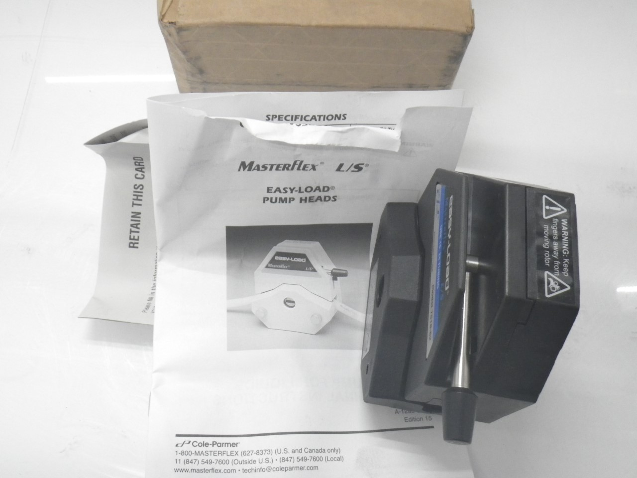 IMGP11207518-62 Cole Parmer Easy-load Masterflex Ls 7518-62 Pump Head (New with Box) (11)