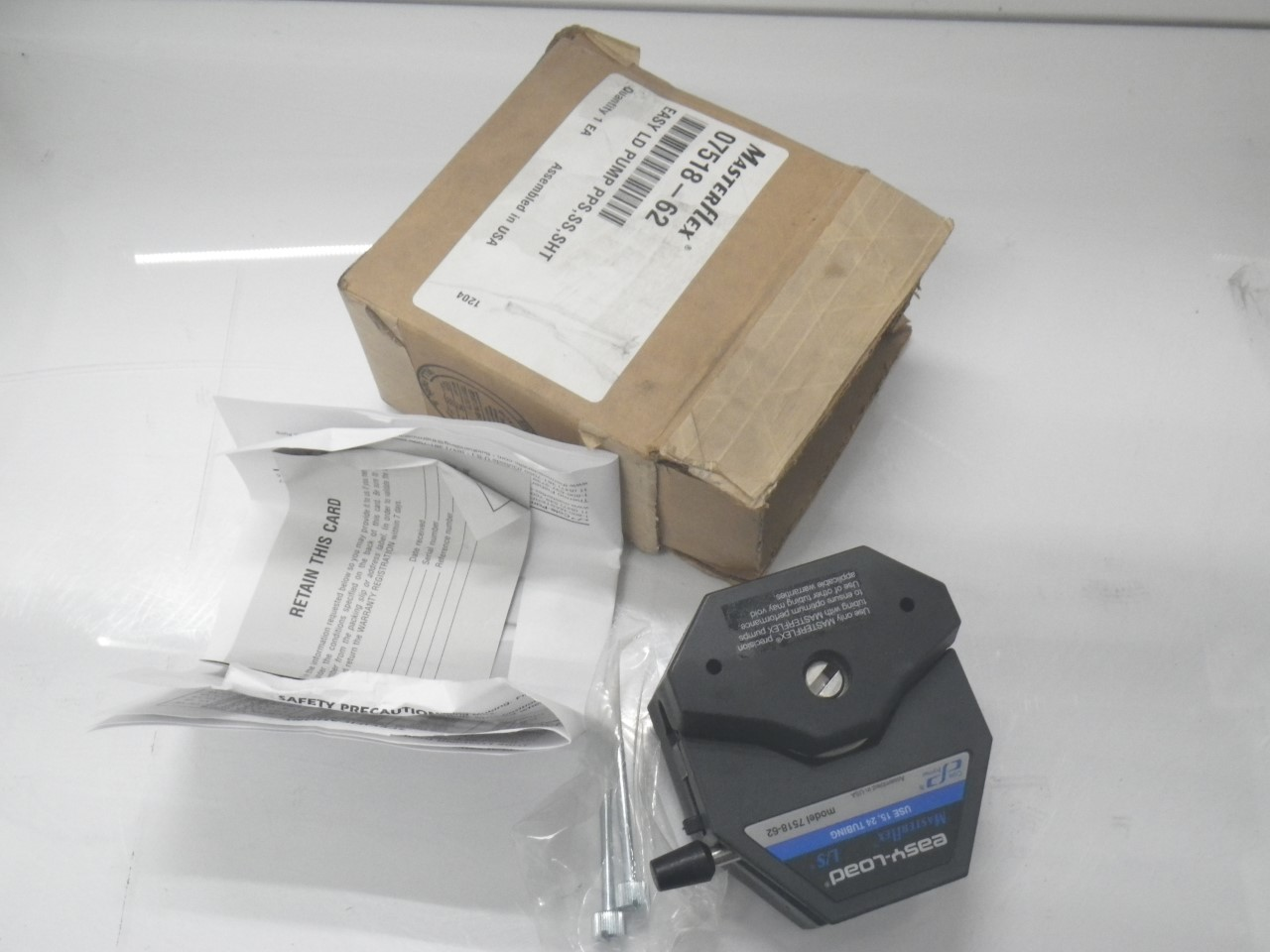 IMGP11207518-62 Cole Parmer Easy-load Masterflex Ls 7518-62 Pump Head (New with Box) (2)