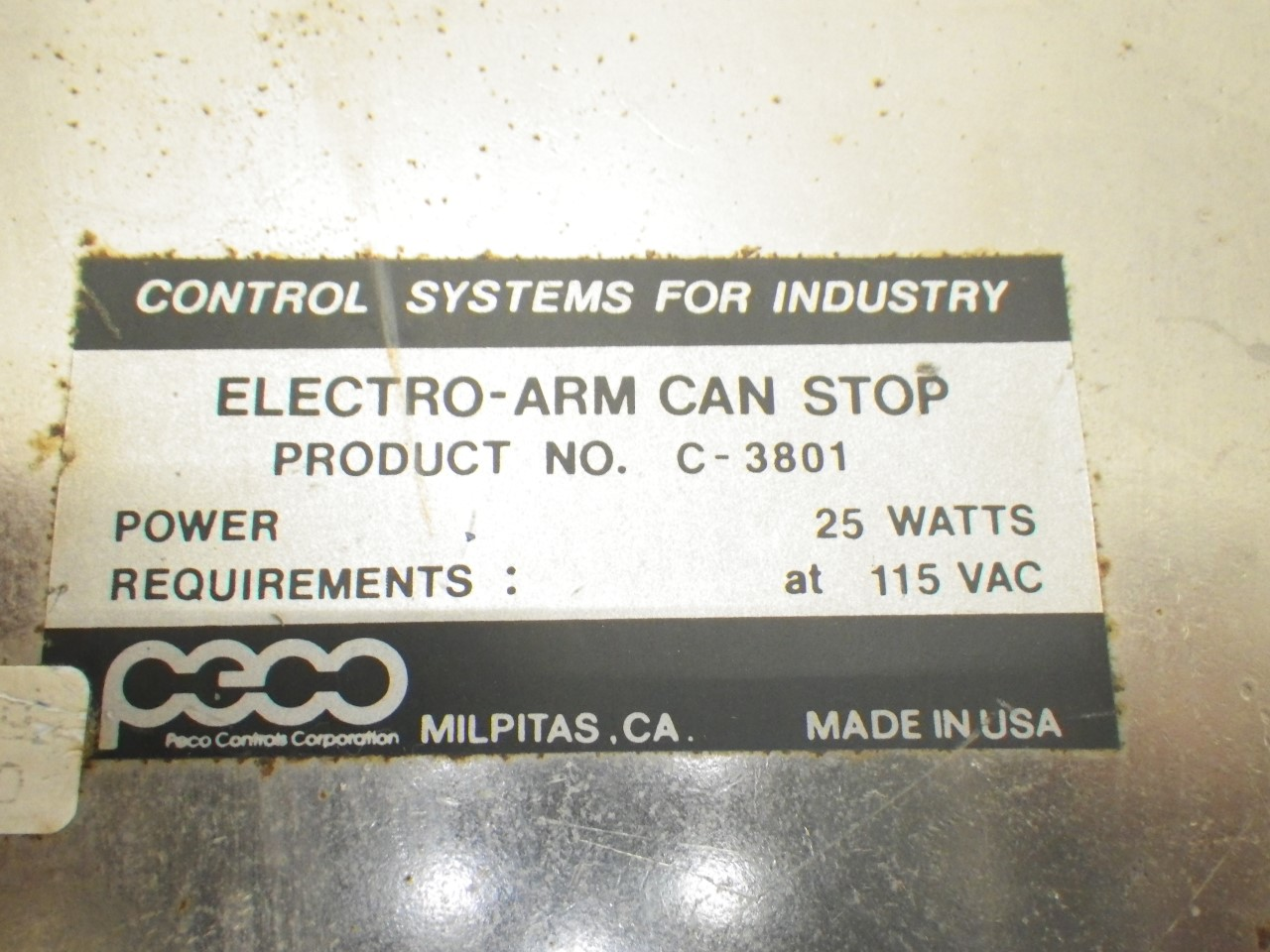 IMGP6937C-3801 C-3800A 3012Peco Electro-arm Controls forPackage Inspection(Used Tested) (8)