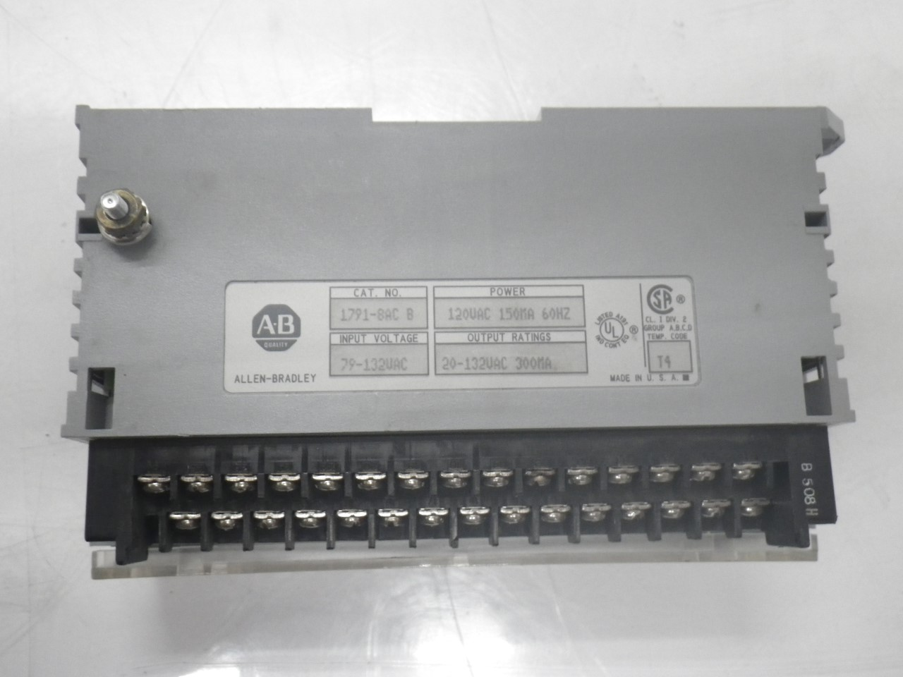 IMGP83251791-8AC Allen Bradley 1791-8ac Series b Block Io Module 120v (Used Tested) (14)