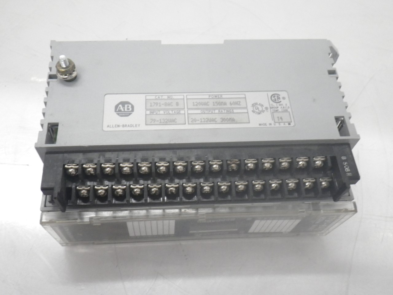 IMGP83251791-8AC Allen Bradley 1791-8ac Series b Block Io Module 120v (Used Tested) (15)