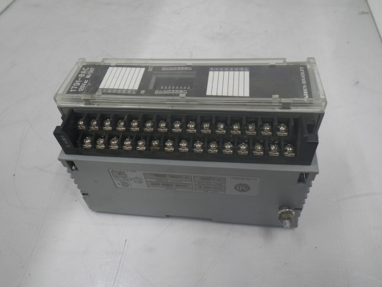 IMGP83251791-8AC Allen Bradley 1791-8ac Series b Block Io Module 120v (Used Tested) (3)