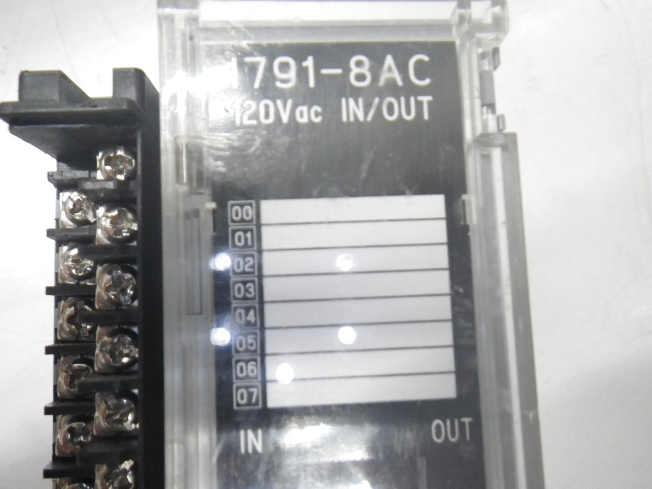 IMGP83251791-8AC Allen Bradley 1791-8ac Series b Block Io Module 120v (Used Tested) (5)