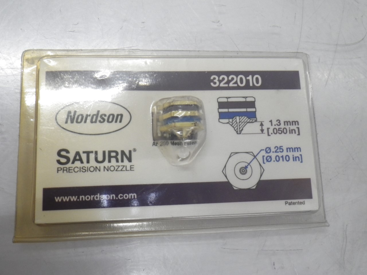 IMGP8502322010 Nordson Saturn Precision Nozzle .25mm Outlet (New) (2)