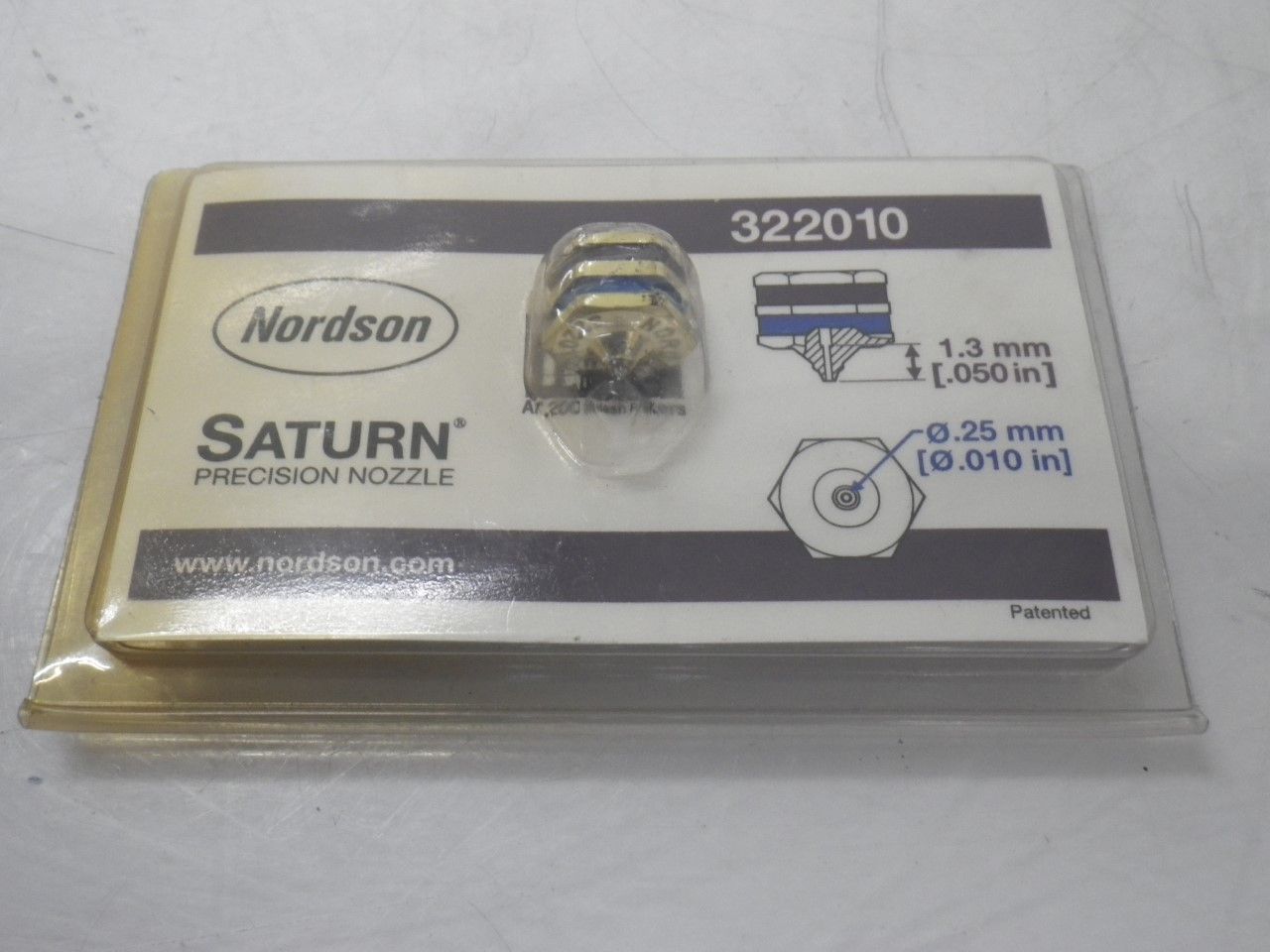 IMGP8502322010 Nordson Saturn Precision Nozzle .25mm Outlet (New) (6)