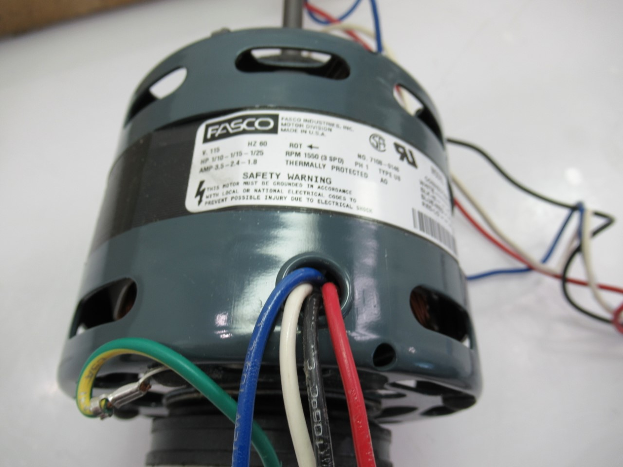Fasco D336 Motor for Fan Coil Air Conditioner/Heating Units on