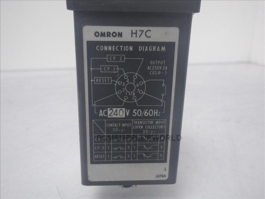 Omron H7c X 4dln H7cx4dln Digital Counter Used Tested Sensor Proximity Switch Wiring Diagram