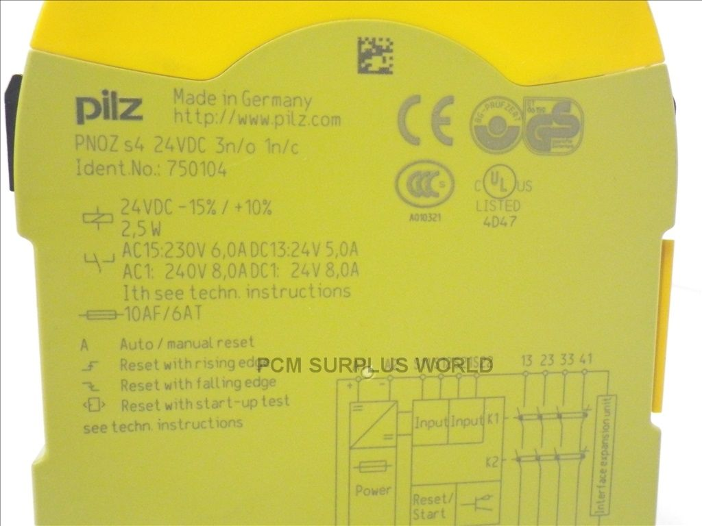 PILZ PNOZ S4 PNOZS4 safety relay USED TESTED 282074884813 3 pilz pnoz s4 pnozs4 safety relay *used & tested* button & relay pilz pnoz x1 wiring diagram at soozxer.org